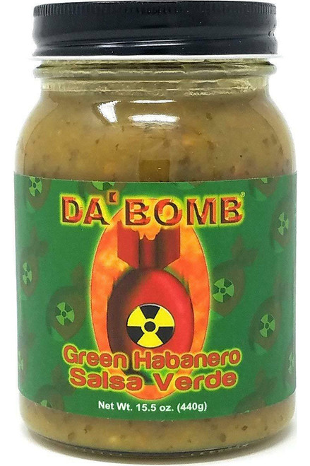 Da Bomb Green Habanero Salsa Verde, 15.5oz.