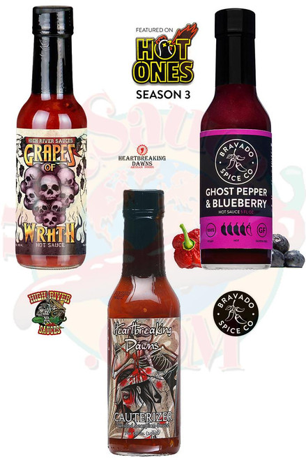 Best of Blueberry Hot Sauces Gift Set, 3/5oz.