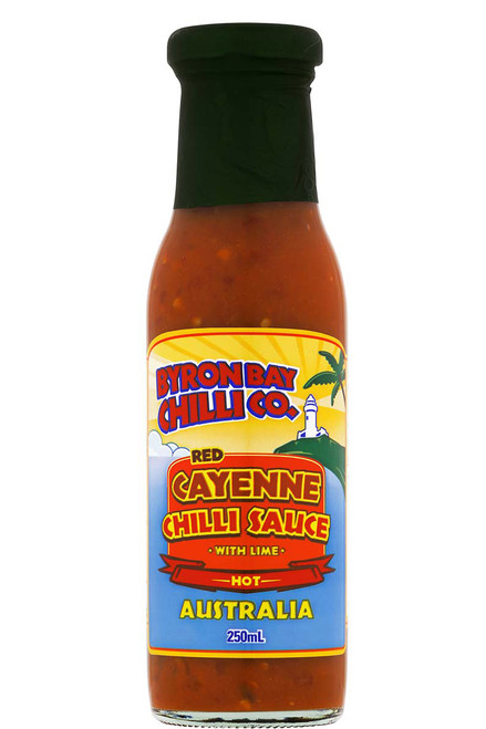 Byron Bay Chilli Co. Red Cayenne Chilli Sauce with Lime, 8.5oz.