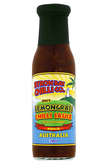 Byron Bay Chilli Co. Spicy Lemongrass Chilli Sauce with Coriander, 8.5oz.