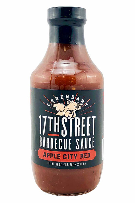 17th Street Barbecue Sauce Apple City Red, 18oz.