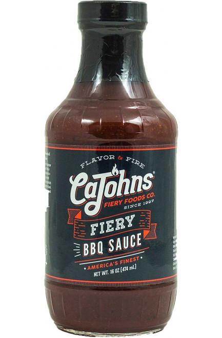 Cajohn's Fiery BBQ Sauce, 16oz.