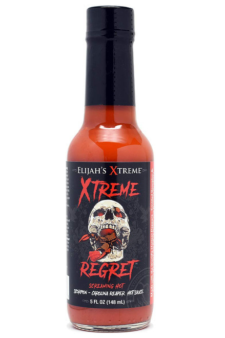 Elijah's Xtreme Regret Scorpion Reaper Hot Sauce, 5oz.