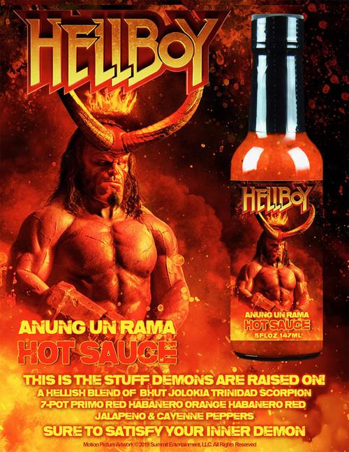 Hellfire Hellboy Annung un Rama Hot Sauce, 5oz.