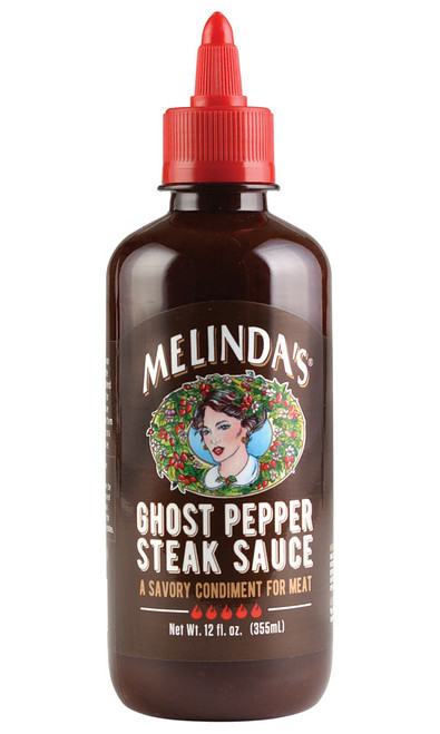 Melinda's NEW GHOST Pepper Steak Sauce, 12oz.