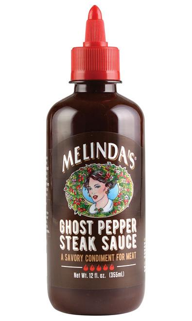 Melinda's NEW GHOST Pepper Steak Sauce, 12oz.