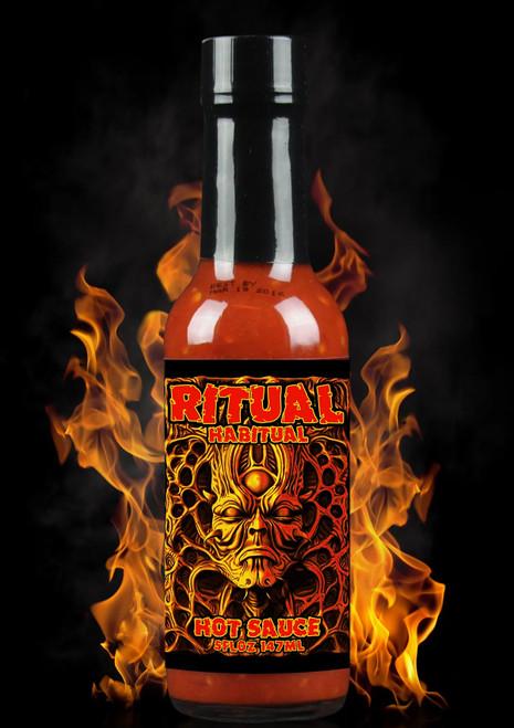 Hellfire Ritual Habitual Hot Sauce, 5oz.