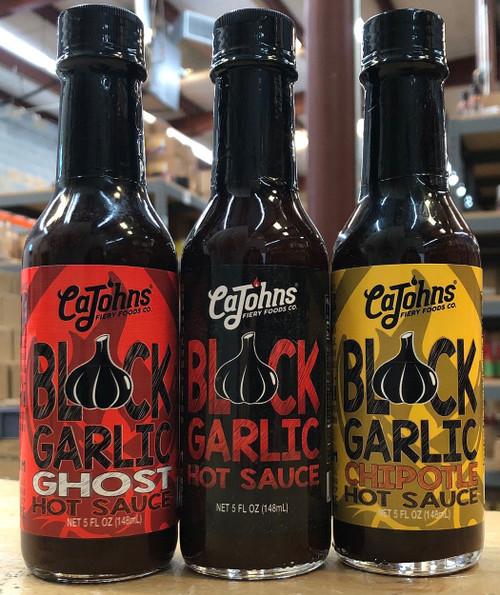CaJohn's Black Garlic Hot Sauces 3 Pack, 3/5oz.