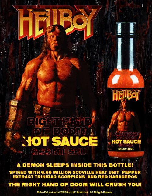 Hellfire Hellboy Right Hand of Doom Hot Sauce, 5oz.