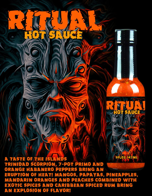 Hellfire Ritual Hot Sauce, 5oz.