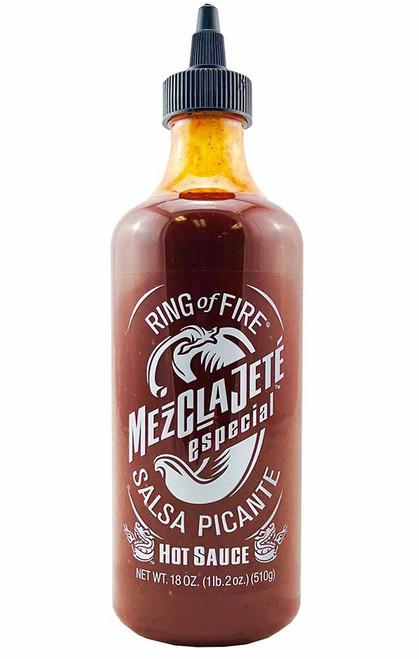 Ring of Fire MezClaJete Especial Salsa Picante Hot Sauce, 18oz.