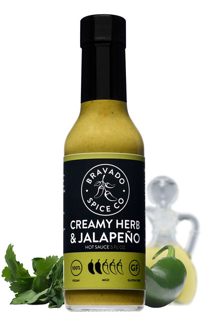 Bravado Spice Co. Creamy Herb and Jalapeno Hot Sauce, 5oz.