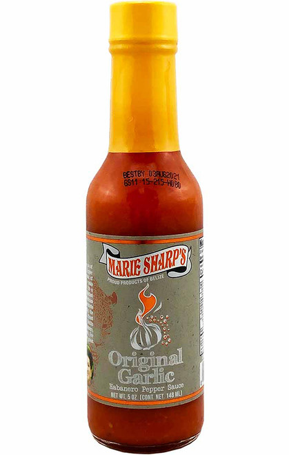 Marie Sharp's Original Garlic Habanero Pepper Sauce, 5oz.