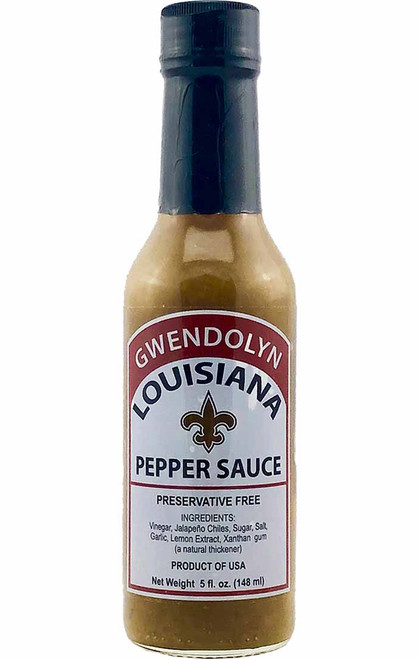 Gwendolyn Louisiana Green Hot Pepper Sauce, 5oz.