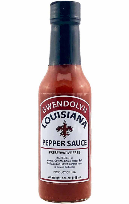 Gwendolyn Louisiana Red Hot Pepper Sauce, 5oz.