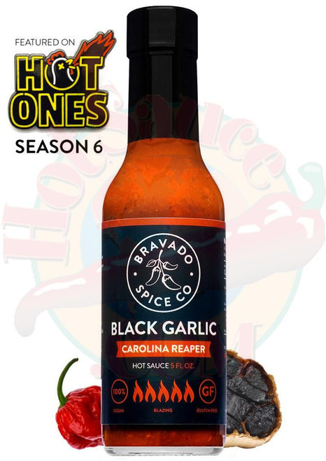 Bravado Spice Co. Black Garlic Carolina Reaper Hot Sauce, 5oz.