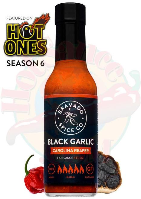 Bravado Spice Co. Black Garlic Carolina Reaper Hot Sauce, 5oz.