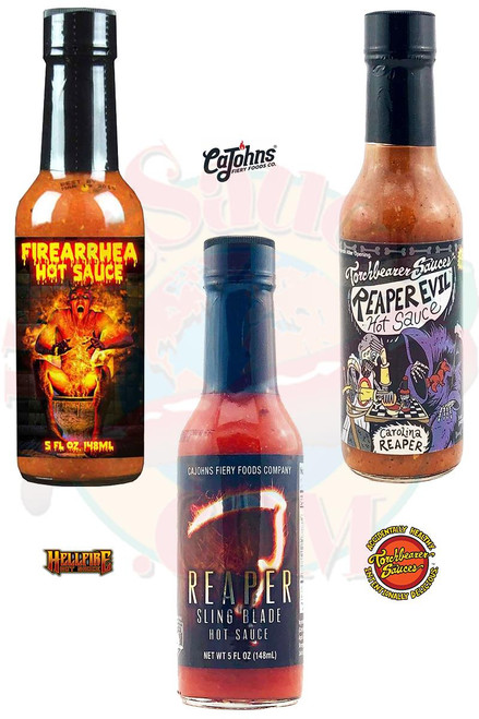 Reaper Evil Firearrhea Hot Sauces Gift Set, 3/5oz.