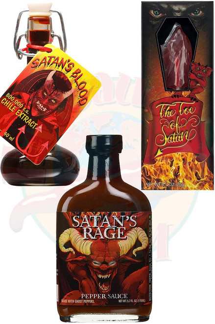 Satan's Bloody Toe Torture Gift Set, .7oz, 1.35oz, 5.7oz.