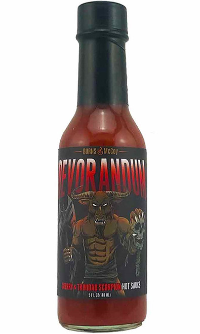 Burns & McCoy Devorandum Cherry & Trinidad Scorpion Hot Sauce, 5oz.