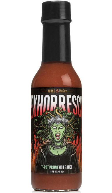 Burns & McCoy Exhorresco 7 Pot Primo Hot Sauce, 5oz.