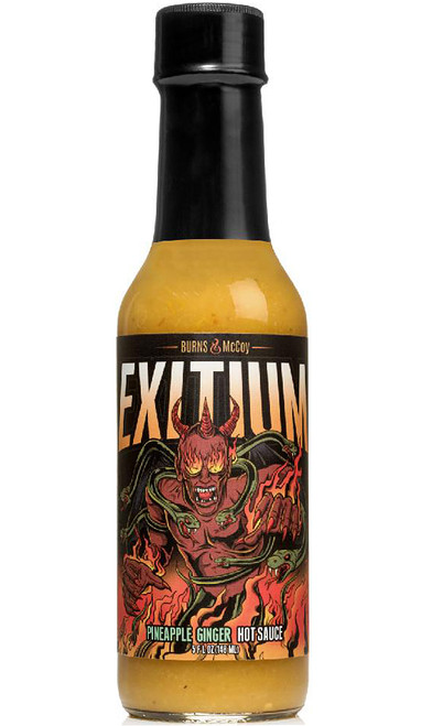 Burns & McCoy Exitium Pineapple Ginger Hot Sauce, 5oz.