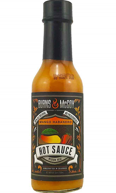 Burns & McCoy Mango Habanero Hot Sauce, 5oz.