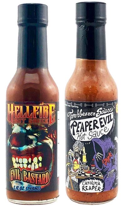 The Evil Reaper Bastards Hot Sauce Set, 2/5oz.
