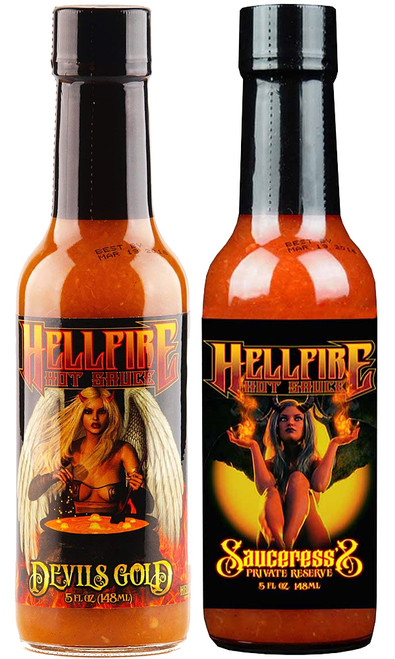 Hellfire Golden Queens Hot Sauces Set, 2/5oz.