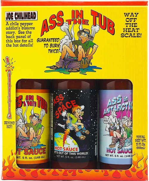 Ass In The Tub Hot Sauces Gift Pack, 3/5oz.