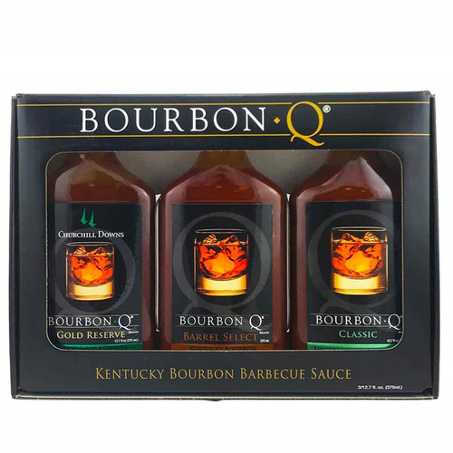 Bourbon Q Kentucky Bourbon BBQ Sauce Gift Pack, 3/12.7oz.