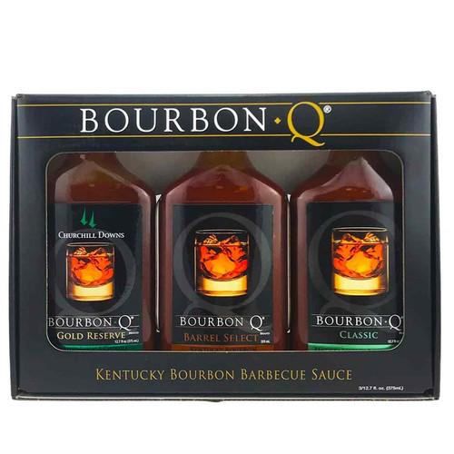 Bourbon Q Kentucky Bourbon BBQ Sauce Gift Pack, 3/12.7oz.