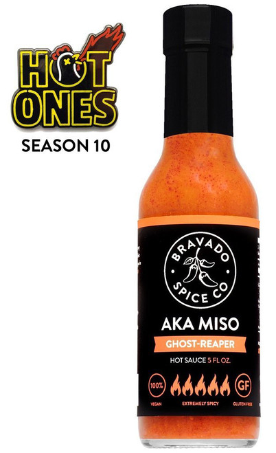 Bravado Spice Co. Aka Miso Ghost Reaper Hot Sauce, 5oz.