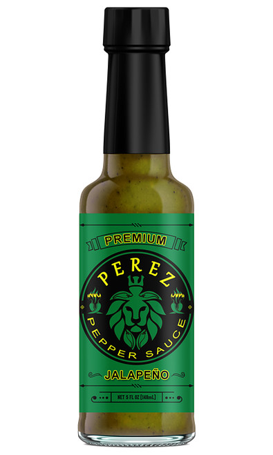 Perez Jalapeno Pepper Hot Sauce by Chris Perez, 5oz.