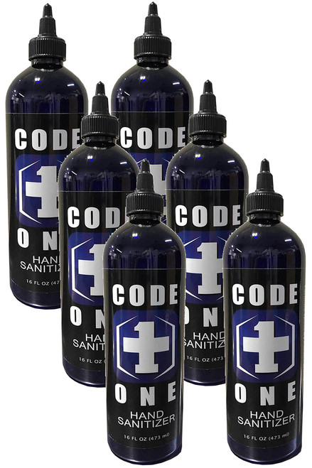 CODE ONE 80% High Potency Disinfecting Hand Sanitizer 6 Pack, 6/16oz.