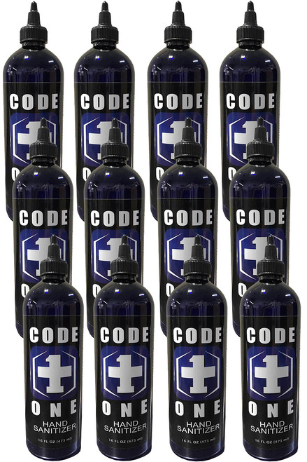 CODE ONE 80% High Potency Disinfecting Hand Sanitizer 12 Pack, 12/16oz.