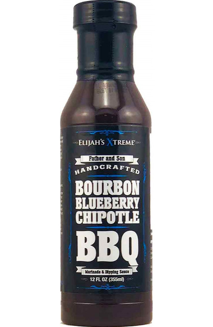 Elijah's Extreme Bourbon Infused Blueberry Chipotle BBQ, 12oz.