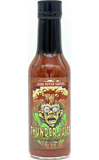 High River Sauces Thunder Juice Tequila Infused Hot Sauce, 5oz.