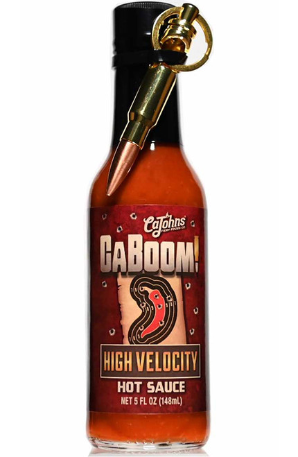 Caboom! High Velocity Hot Sauce with Bullet Keychain, 5oz.
