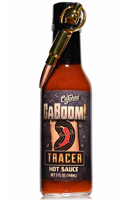 Caboom! Tracer Hot Sauce with Bullet Keychain, 5oz.