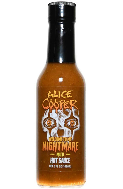 Alice Cooper Welcome To My Nightmare Mild Hot Sauce, 5oz.