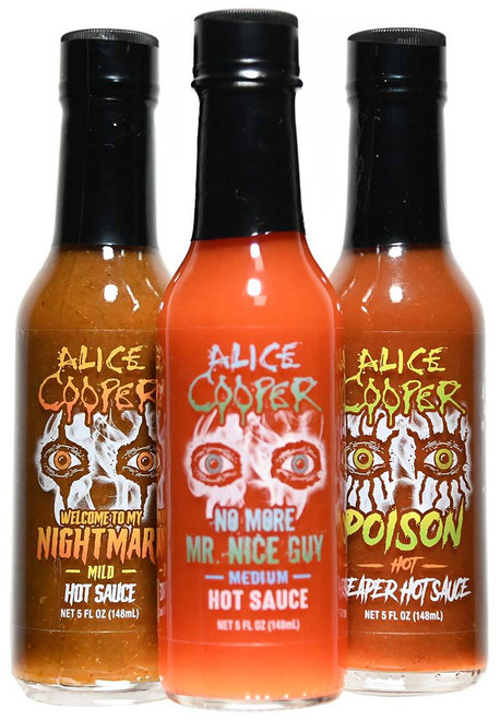 Alice Cooper Hot Sauce 3 Pack, 3/5oz.