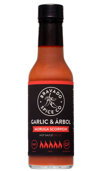 Bravado Spice Co. Garlic and Arbol Moruga Scorpion Hot Sauce, 5oz.