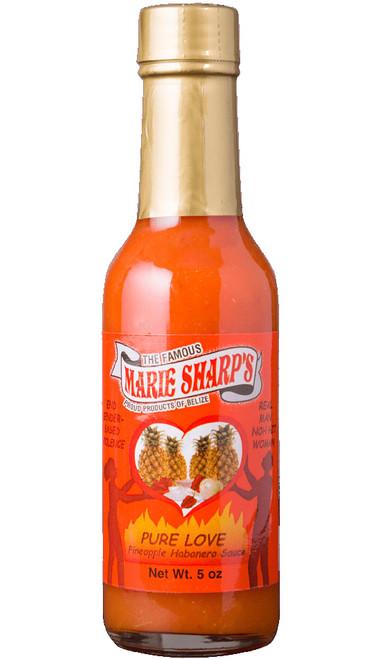 Marie Sharp's Pure Love Pineapple Habanero Pepper Sauce, 5oz.