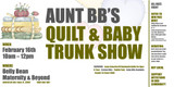 Aunt BB's Quilt & Baby Trunk SHow