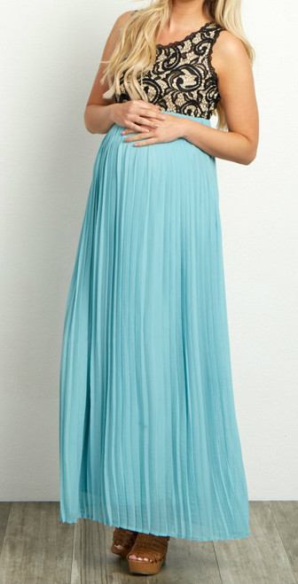 Pink Blush Formal Dress. New With Tags. Aqua Chiffon. Size Large. Stretch fabric. 100%polyester. Hand wash cold.
