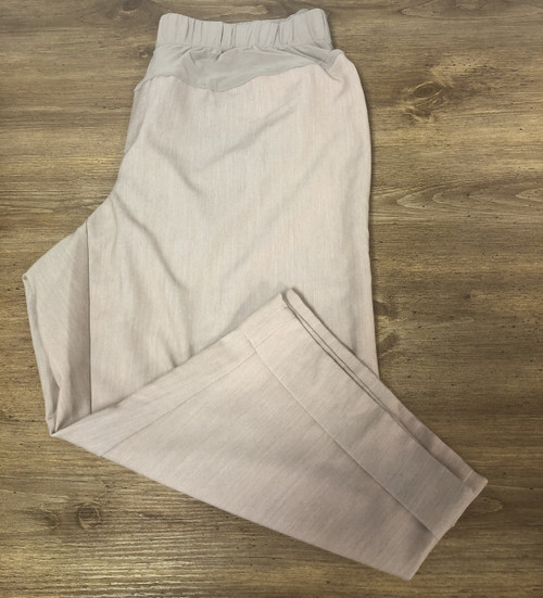Duo Maternity Dress Crop      Tan     Size 1X     Crop     Wide leg     78% polyester, 18% rayon, 4% spandex     Machine washable     Pre-loved