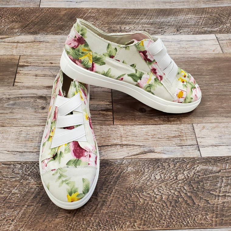 Floral Sneaker Size 7