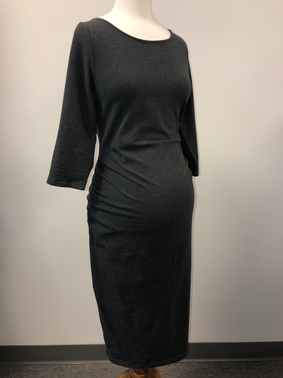 ON Fitted Gray Dress SMALL