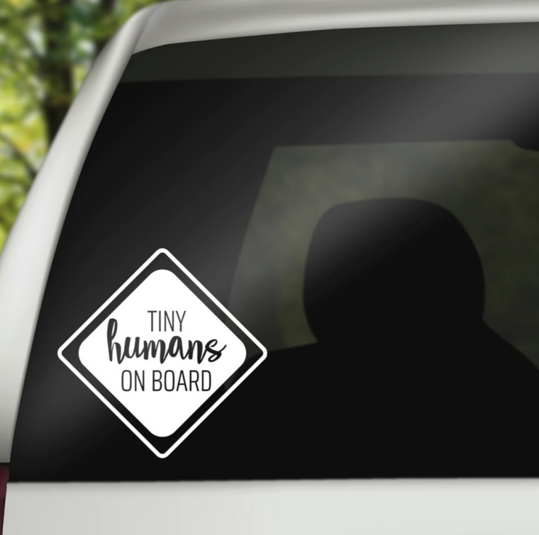 Tiny Humans On Board Car Decal
